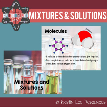 Mixtures and Solutions PowerPoint w/ Student Notes