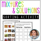 Mixtures and Solutions Sorting Activity