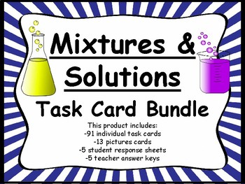 Mixtures and Solutions Task Card Bundle