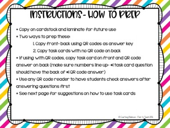Mixtures and Solutions Task Cards {QR Code Answers}