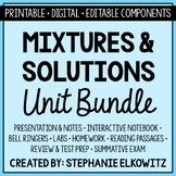 Mixtures and Solutions Unit Bundle