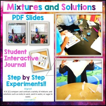 Mixtures and Solutions Unit Interactive Journal and Experiments