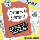 Doodle Notes - Mixtures and Solutions Interactive Notebook BUNDLE