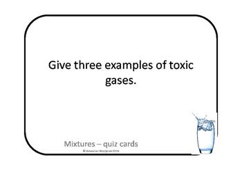 Mixtures - quiz cards