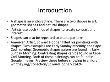 All About Shapes Art Projects