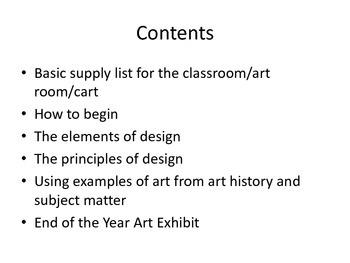 The basics for teaching art