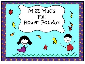 Fall Clay Flower pot art project