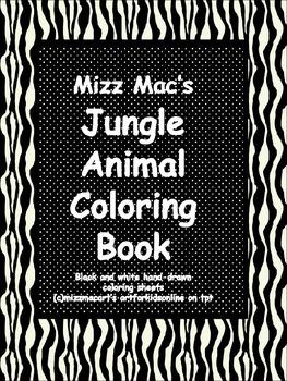 Jungle Animal Coloring Book