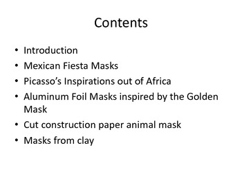 Easy Artsy Masks from around the world