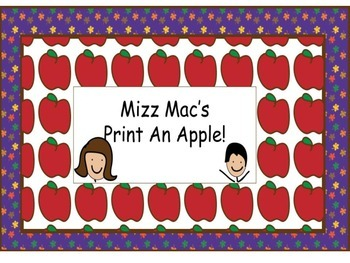 Print An Apple for Johnny Appleseed