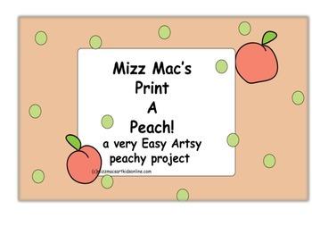 Mizz Macs Print a Peach