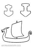 Mjolnir and Longship with Dragon Head