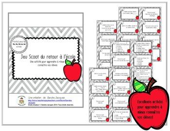 Méli mélo d'activités pour le retour à l'école/French Back to School Activities