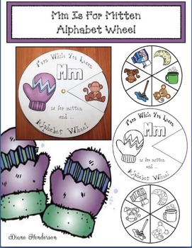 Mm Is For Mitten Alphabet Wheel