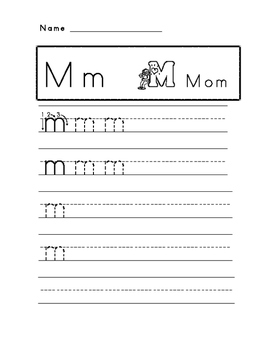 Mm Letter Practice