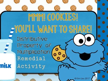 Mmm! Cookies! Distributive Property Remedial Activity