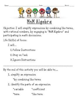 MnM Algebra