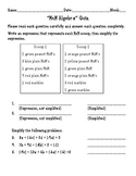 MnM Algebra Quiz