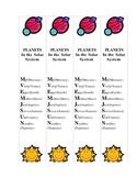 Mnemonic Bookmarks PLANETS