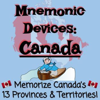 Mnemonic Devices: Memorize Provinces & Territories of Canada