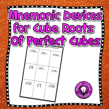 Mnemonic Devices for Roots of Perfect Cubes