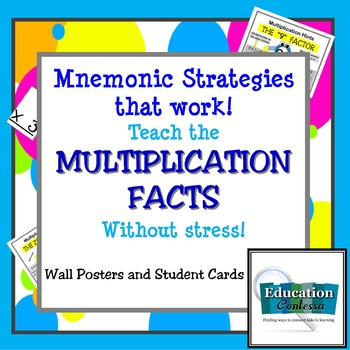 Mnemonic Strategies That Work:  Teach Multiplication Facts Fast and Make it Fun