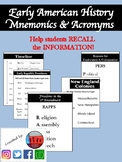 Mnemonics & Acronyms for Early American History