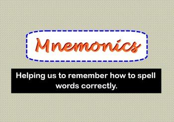 Mnemonics Presentation / SMARTBoard / Display Posters