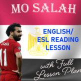 Mo Salah - Soccer Reading Comprehension Worksheet & Full L