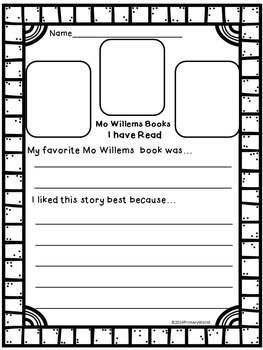 Mo Willems Author Study Mini Research Report