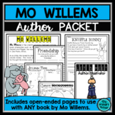 Mo Willems:  An Author Study Packet