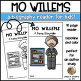 Mo Willems {Author Study} Biography Reader for Kindergarte
