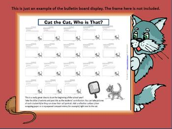 Mo Willems Inspired  Bulletin Board Freebie for Cat the Cat Who is That?