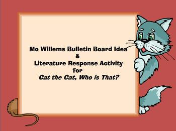 Mo Willems Inspired  Bulletin Board Freebie for Cat the Ca