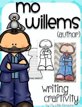 """Mo Willems """"Craftivity"""" Writing page (Author of The Pigeon Needs a Bath)"""
