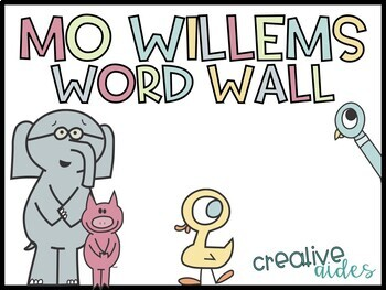 Mo Willems Editable Word Wall