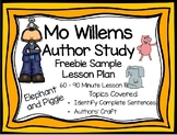 Mo Willems Freebie Elephant and Piggie Lesson Plan