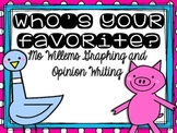 Mo Willems Graphing and Opinion Writing Mini Unit