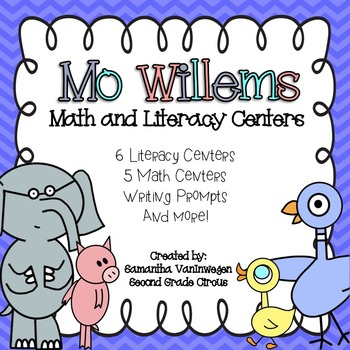 Mo Willems Math and Literacy Centers