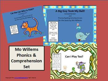 Mo Willems Inspired Spelling, Phonics, and Reader Response
