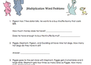 Mo Willems Unit Activities