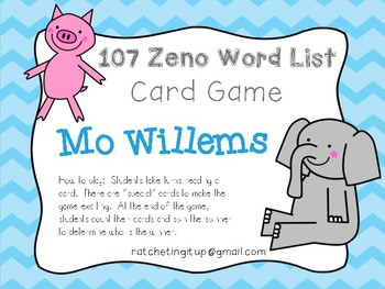 Mo Willems - Zeno 107 High Frequency Word Card Game