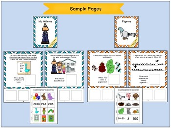 Mo Willems and Pigeons:  Interactive Companion Books
