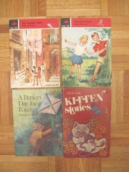 4 Vintage Flamingo books Secret Field Antonios Alone Kittens Kites book
