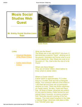 Moai Social Studies Web Quest