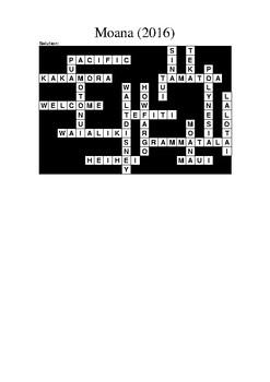 Moana (2016) Crossword Puzzle