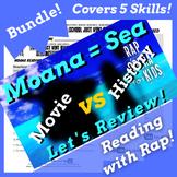 Moana Movie Worksheets & Moana Movie Reading Activities Guide with Parody Song