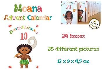 Moana ADVENT CALENDAR – 24 boxes