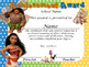 Moana Achievement Award Spanish & English version complete Editable!!!!