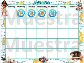 Moana Calendar Set